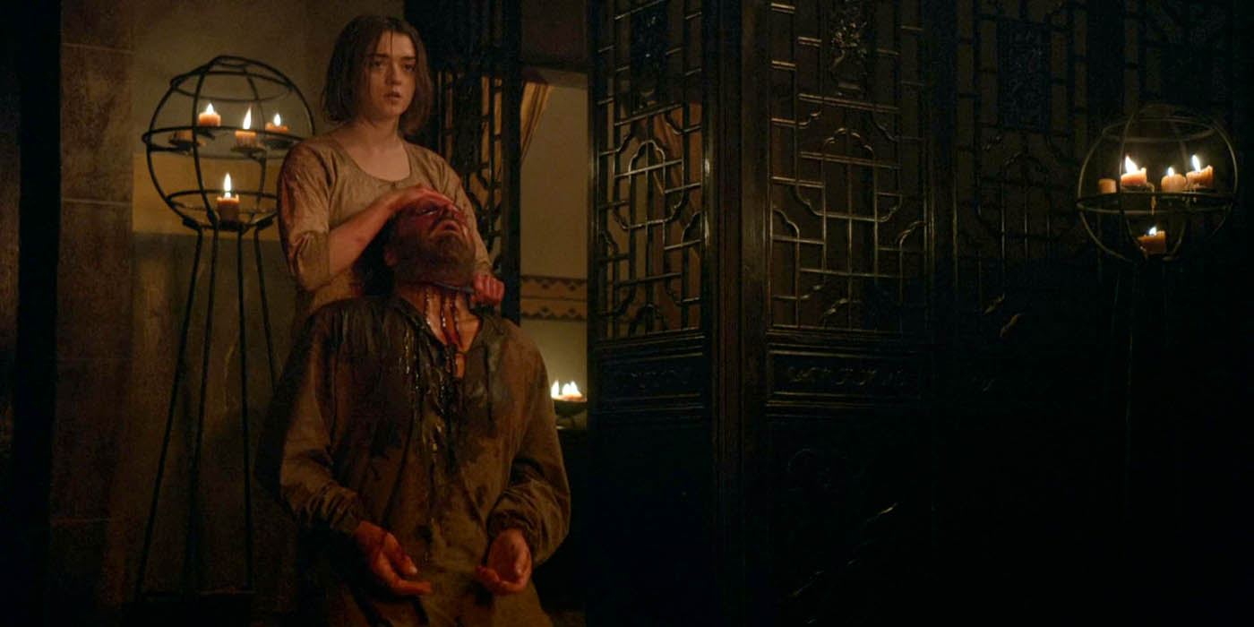 Arya Stark Meryn Trant death Game of Thrones