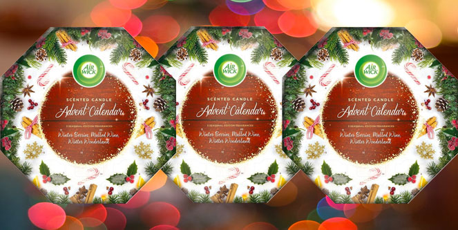 Airwick Scented Candle Advent Calendar Christmas Gift Set