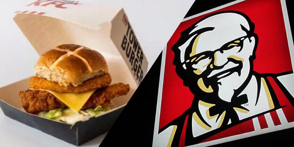 KFC Hot Cross Bun Burger